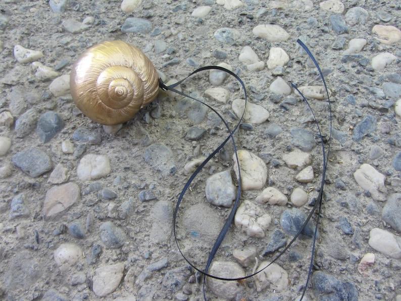 Ursula/'s Gold Shell Pendant