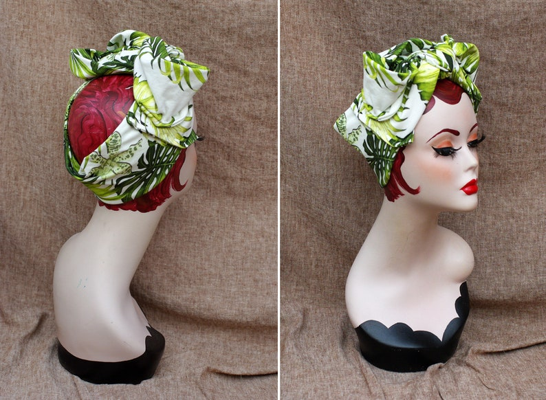 Urban Jungle: MONSTERA Turban Headband // Greenery Vintage image 0