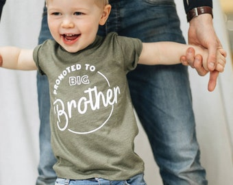 2ca97b7f2 Birth Announcement Big Brother Promotion Kids Shirt - New Baby Gift - Baby  Shower Gift - Big Brother Announcement