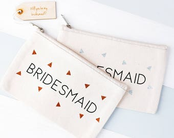Bridesmaid Makeup Bag - Bridal Makeup Bag - Bridesmaid Gift - Bridesmaid Proposal - Hen Party Gift - Bridal Party Gift - Bridal Cosmetic Bag