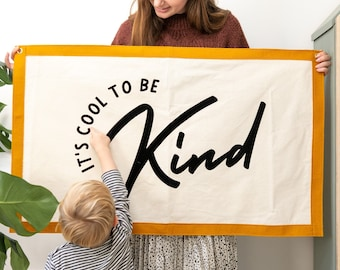 It's Cool To Be Kind Wall Art Banner - Be Kind Banner - New House Gift