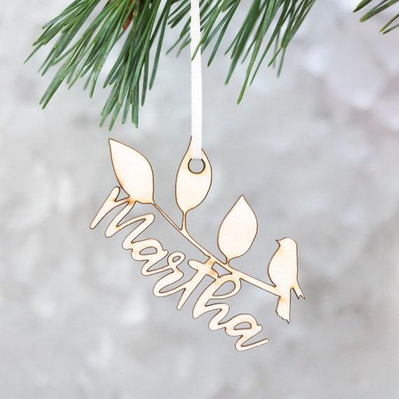 Christmas Leaf Name.Personalised Laurel Name Christmas Decoration Name Bauble Name Decoration Personalised Bauble Leaf Decoration Christmas Bauble