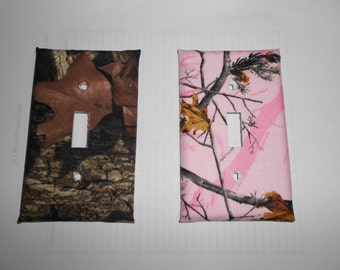 Mossy oak or Pink Camouflage Light Switch Cover