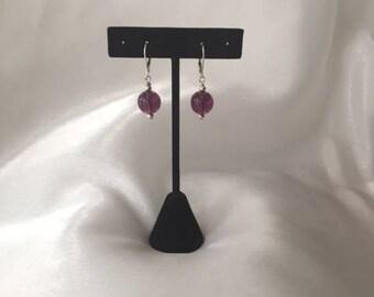 Purple Leverback Earrings, Sterling Silver Earrings, Bubble Earrings, Sterling Silver Leverbacks, Kids Earrings, Handmade, OOAK, SDJ2012