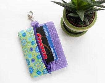 Clip On Keychain Wallet Zipper Pouch