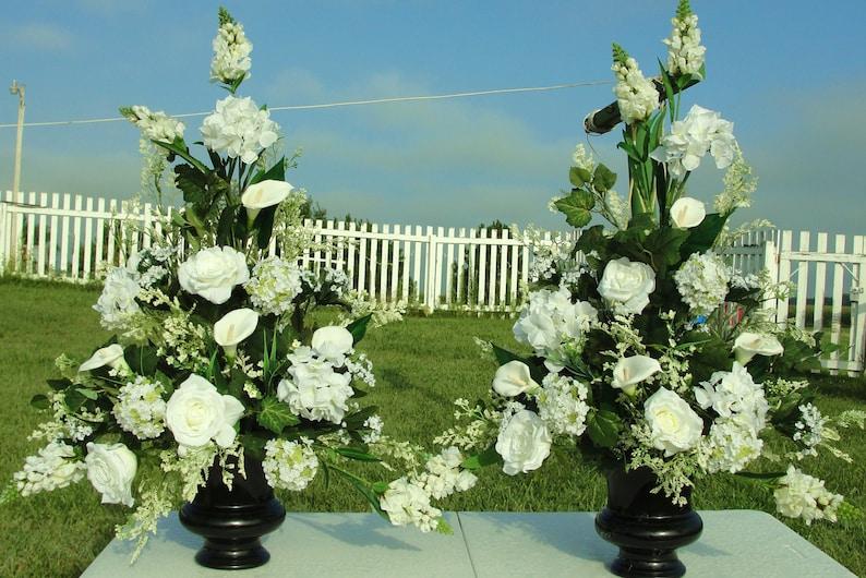High End Bridal Wedding Church Altar Silk Flower Silk Flowers Etsy