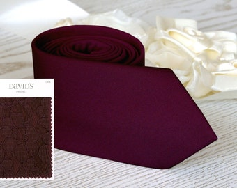Wine Red Floral Skinny Tie Sonoma Mens Wedding Ties