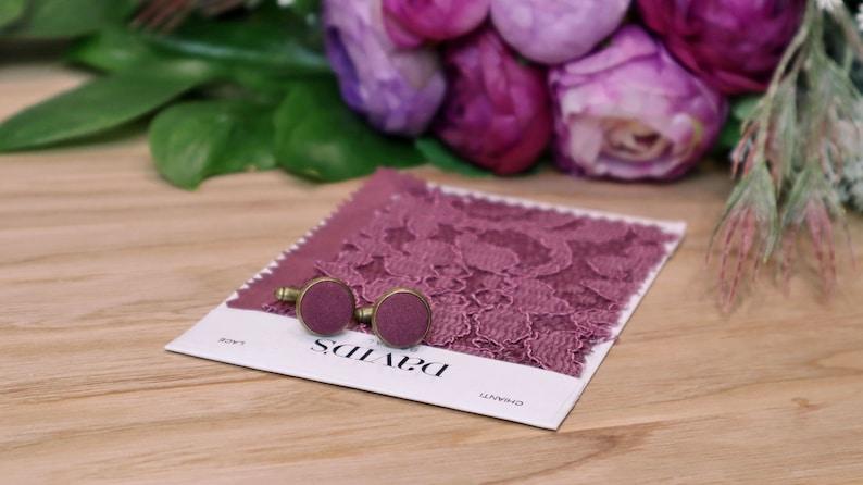 Wedding Cufflinks CHIANTI  Fabric David/'s Bridal  \u0421ufflinks for groom Bronze Special Order