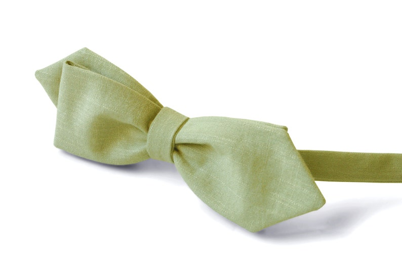 Bow Tie Light Moss Green WEDDING COLOR 2019 Pale Olive Green Bow Tie Pale  Olive Green Classic Bow Tie Wedding Bow Tie SALE