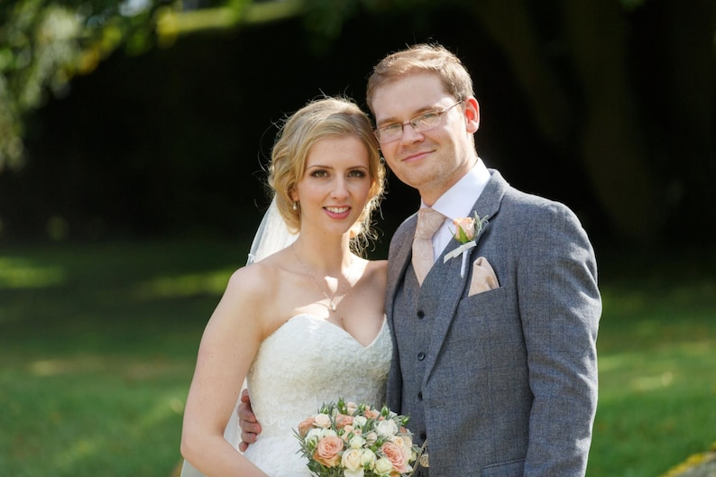 Wedding Clara   Men/'s skinny Champagne tie  Wedding Ties   Necktie for Men FREE GIFT