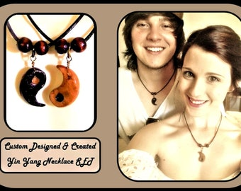 Yin yang couples Jewelry necklace set - boyfriend gift - girlfriend gift - Romantic gift - his hers jewelry - Couple gift - Yin Yang jewelry