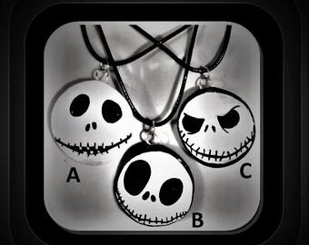 pumpkin jack - nightmare before christmas - jewelry - spider web jewelry, - Halloween jewelry - spider jewelry - spider web necklace