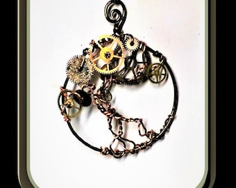 Clockworks,Steampunk necklace,Clock necklace,Larp,Post Apocalyptic,Steampunk Fashion,steampunk,Octopus,Octopus Necklace,Steam punk jewelry,