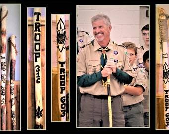 Troop Leader gift, Scout leader gift,  Scout gift,Scout gift, hiking stick,walking stick,retirement gift,walking cane, cane