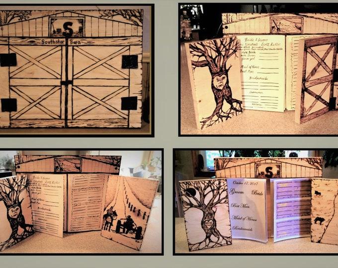 Rustic Wedding, barn - Wedding Guest Book, farm theme wedding - wedding guest book - Barn Wedding  - guest book -