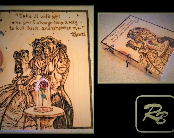 theme wedding - Beauty and the Beast - wedding - barn wedding - rustic wedding -guest book -Wedding Guest Book