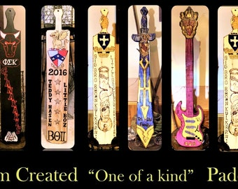 fraternity paddle - frat paddle - big brother gift - custom paddles, shaped fraternity paddles,