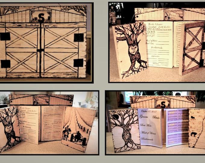 Wedding Guest book - Barn Wedding,Barn Wedding guest book,Rustic Wedding, rustic wedding, Wedding Guest Book, farm theme wedding, Wood Book