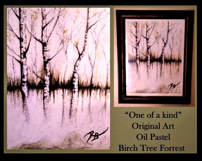 Original Art - paper anniversary gift ideas - Birch Trees - Birch tree Art - Nature Art - Tree frog art - Rustic decor,Tree lovers,