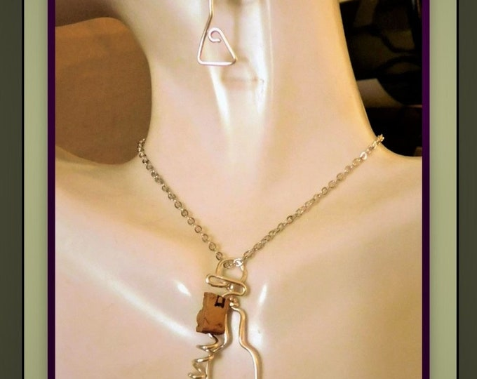 wine lovers gift - wine jewelry - wine glass - corkscrew - wine tasting - wine grape,wine gift