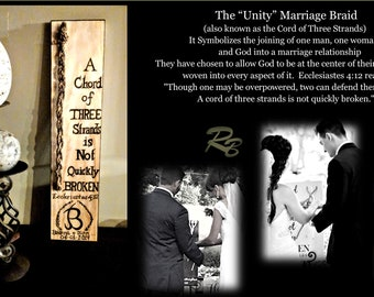 Ecclesiastes 4:12, Wedding Braid, wedding, Unity Ceremony, Gods Knot, A chord of Three stands is Not quickly broken,