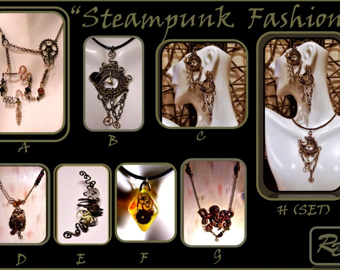 Larp,Post Apocalyptic,Steampunk Fashion,steampunk,Steampunk necklace,Octoupus jewelry, Octopus Necklace, Steam punk jewelry,Clay jewelry,