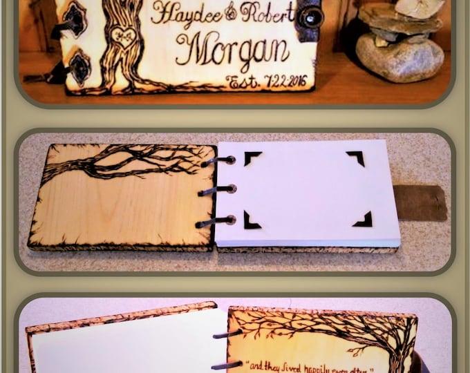 wood anniversary gift - books - photo album - husband gift - boyfriend gift - son gift -  wife gift - mother gift - journal - Memory Book