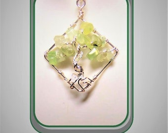 Peridot jewelry - tree of life - mother gift - February birthday - Amethyst jewelry,wife gift,Heart