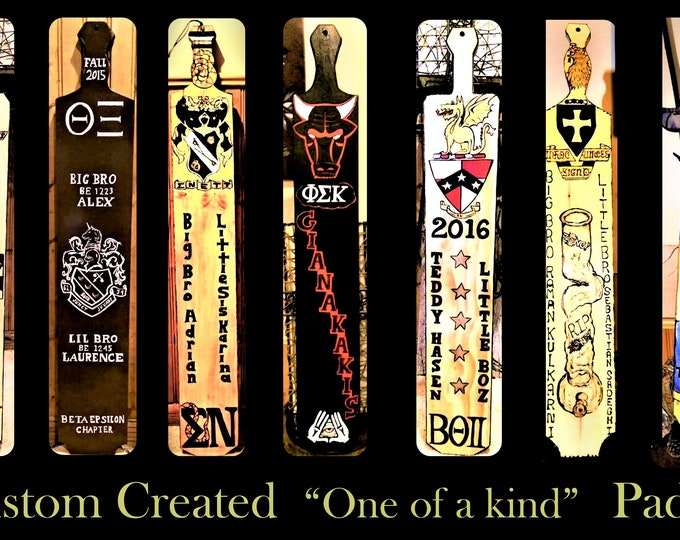 hand created - any design - fraternity Paddle -  cool paddles - Greek paddles