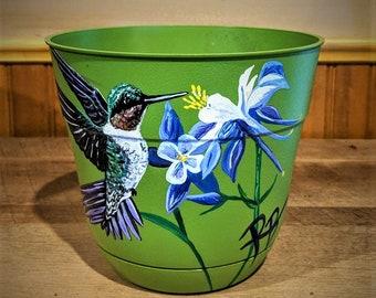 Hummingbird lovers gifts - grandmother gift - mother gift - wife gift - Sun catcher - hummingbird - garden art,garden decoration,flower pot