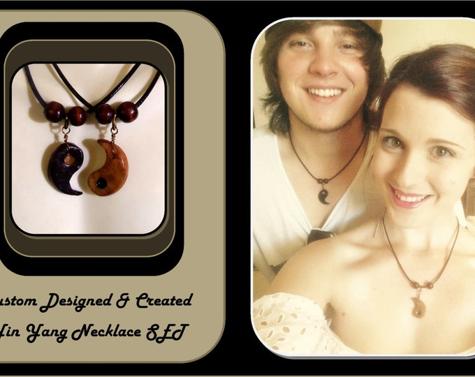 boyfriend gift - Best Friends jewelry -yin yang necklace set - yin yang - Couples Jewelry - girlfriend gift - Yin Yang Jewelry,