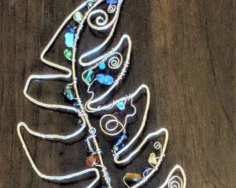 Suncatchers, Bohemian Décor, hippie home décor, mystical feather, suncatcher, gemstone healing, garden decorations, Window art