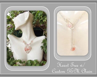 Breast Cancer jewelry,Cancer survivor jewelry,survivor gifts,tree of life,Breast Cancer Awareness,pink ribbon jewelry,pink angel necklace
