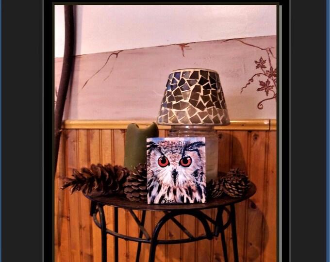 owl lovers gift,Owl jewelry,OWL Art, original painting, owl painting, owl gift,owls,wife gift,mother gift
