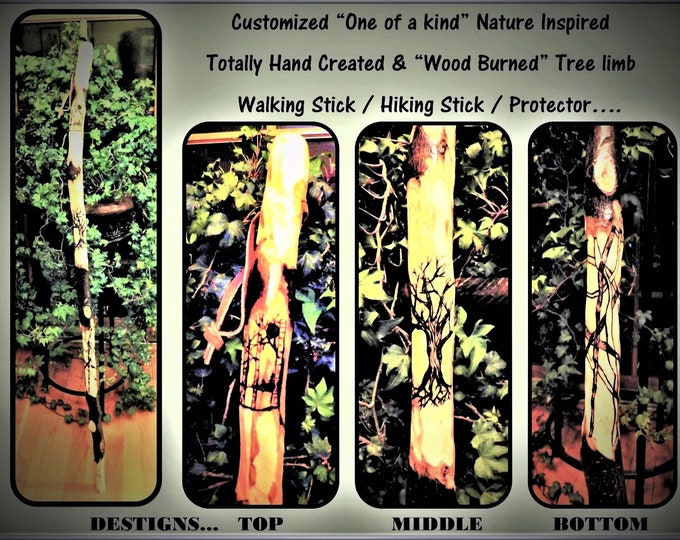 hiking stick, girl scout leader gift, retirement gift, wood hiking stick, hiker, hikers gift, walking stick, cane, husband gift, father gift