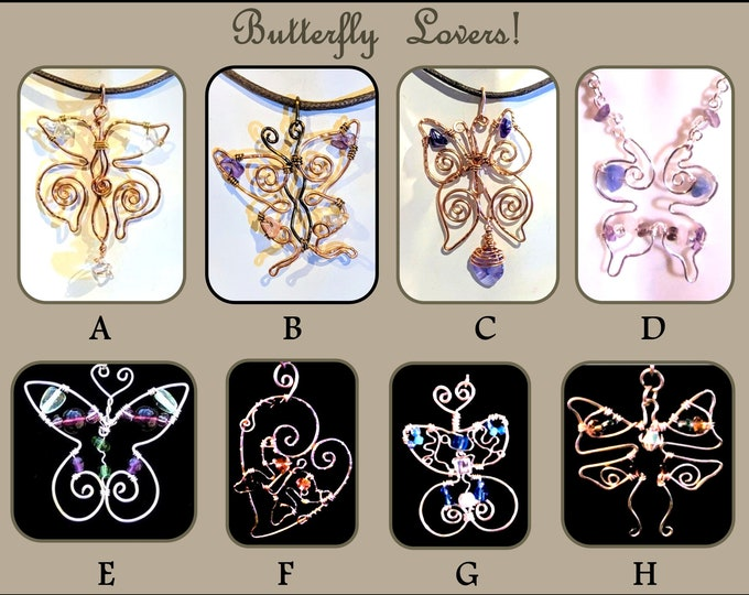 Butterfly lovers - butterfly jewelry - butterfly necklace - butterflies -nature lover - mother daughter jewelry,most popular