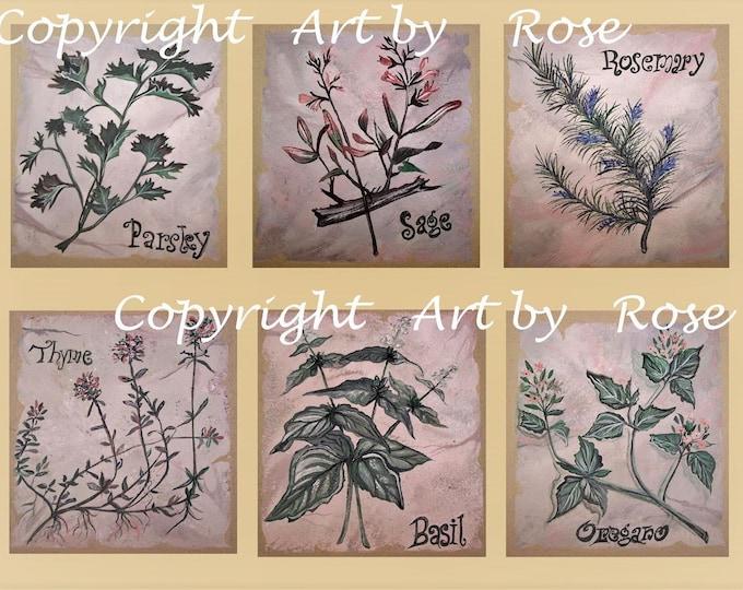 Wedding gift ideas - kitchen art - Spice painting - Spice Art, Chef gift, Oregano art, kitchen decor, kitchen accessories