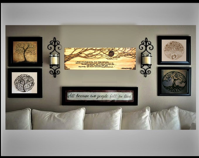 five year - wood anniversary gift  - Large Art - Couples gift - Anniversary gift ideas - Wife gift - Husband gift - Wedding gift