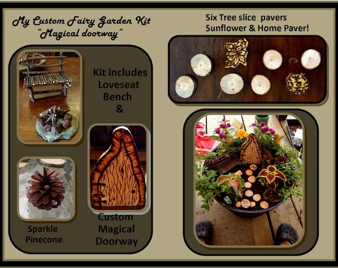 Fairy Garden Kit, garden accessories,fantasy garden,fairie furniture,fairy garden,minature furniture,miniatures,most popular