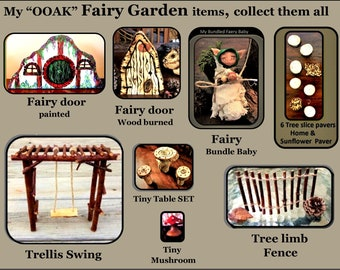 fairy garden accessories, bed,fairy Babies, fey, fairy gardern furniture,fairy garden,fairies,pixies,fairy furniture,miniature furniture