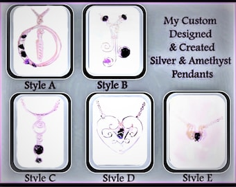 February birthstone jewelry - Valentines day gift - heart necklace - amethyst jewelry - wife gift - mother gift