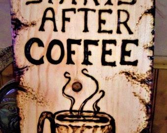 Coffee lovers,coffee art,kitchen art, wine grapes art,tree of life art, EAT, wood burned,sports art,most popular,owls,wall art,nature art