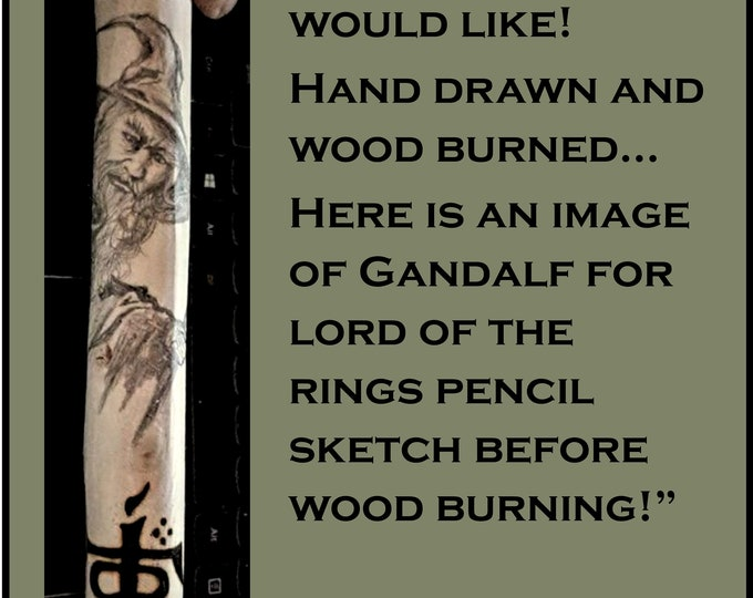 Gandalf  - lord of the rings - hiking stick - walking stick - Retirement gift - Anniversary gift,hiking,hikers gift,walking cane,leader gift
