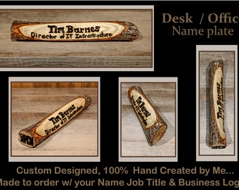 Desk name plate, wood name plate, husband gift, office gift, co worker gift, employees gift , welcome,family name sign,address sign,son gift