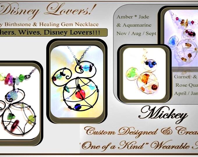 Unique Disney jewelry,hand made disney jewelry,Disney Lovers,mickey jewelry,March birthday gift,Mother gift, daughter gift ,Mother jewelry