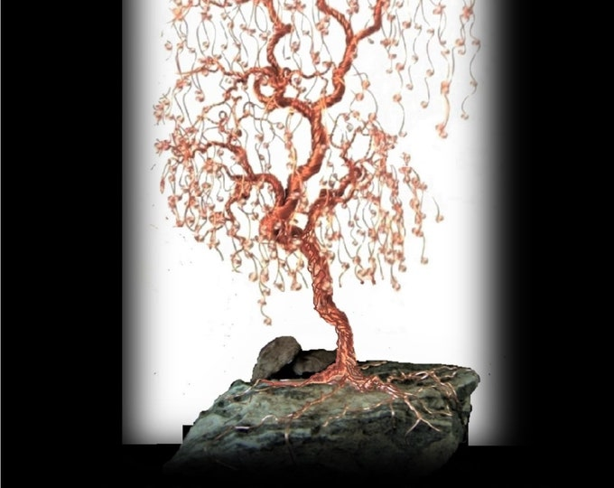 Copper tree  - wire tree sculpture - mother gift - grandmother gift,husband gift,father gift - large  copper tree - tree lovers gift -