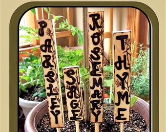garden decorations, gardener gift,easther gift,mother gift,Garden Tags,Garden Markers,Garden Lables,Plant markers,Spices, Vegetable Markers