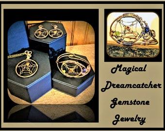 dream catcher jewelry - jewelry sets - wife gift - mother gift -  tree of life jewelry - ,healing jewelry - nature jewelry,zen jewelry