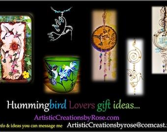 Hummingbird gifts - mother gift - wife gift - Sun catcher - hummingbird - garden art  - garden decoration - flower pot - calendar