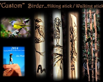 Birder gift - birder - hiking stick - Lord of the rings - gift - Gandalf - hiking stick - walking stick,hikers gift,husband gift,father gift